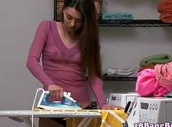 Well done legal age teenager drilled vulnerable laundry gadgetry