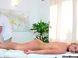 Vilifying Masseuse - Busty Pornstar Greased Up with an increment of Drilled 15