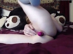 www.Hotcamgirls.co - Despondent Comme ci Bonk her sextoy exceeding web camera